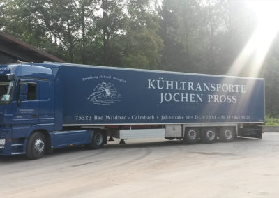 Pross Kühltransporte - Digitaldruck