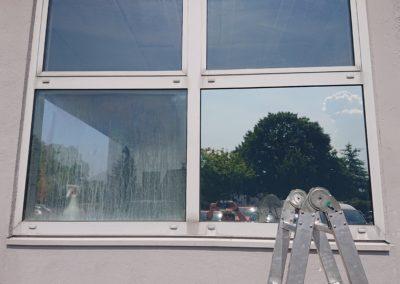 Sonnenschutz- und Spiegelfolie - Vorher & Nachher