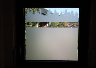 Fenster Sichtschutz Silhouette - Gebäudefolie
