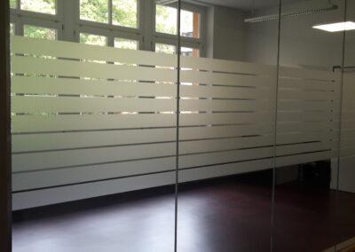 Fenster Teilsichtschutz - Gebäudefolie