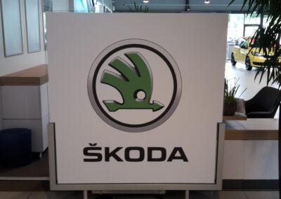 Skoda Schild - Grafik&Beschriftung