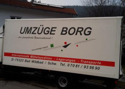 Umzüge Borg - Grafik&Beschriftung