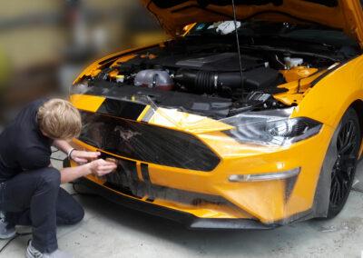 Mustang Frontstoßfänger - Lackschutz