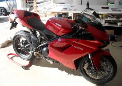 Motorrad vorher - Teilfolierung