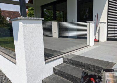 Terasse außen - Gebäudesonnenschutz und Spiegelfolie
