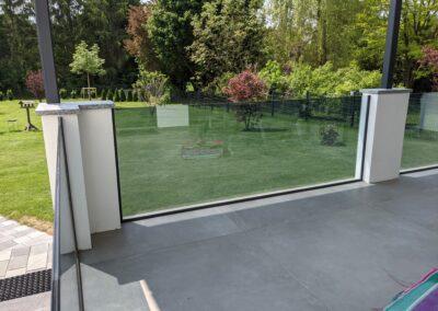 Terasse innen - Gebäudesonnenschutz und Spiegelfolie